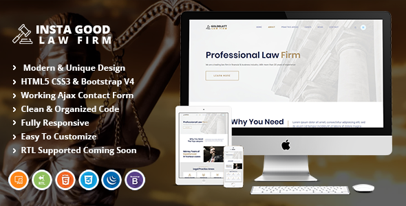 Insta Good - Law and Lawyer HTML Template