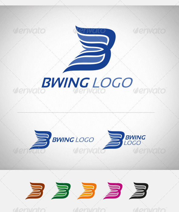 B Wing Company Logo - Abstract Logo Templates