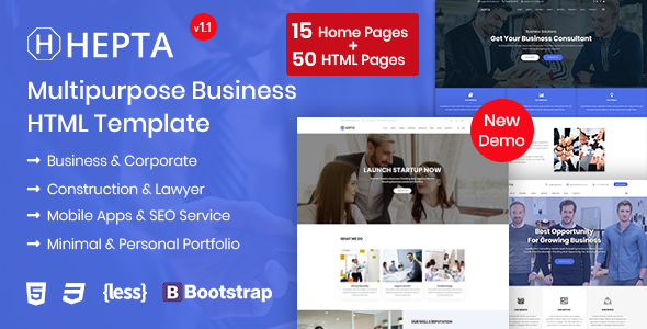 Hepta - Multipurpose Business HTML Template