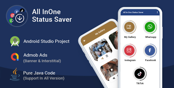 All In One Status Saver - For Whatsapp, TikTok, Instagram & Facebook