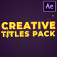 Creative Titles | After Effects - VideoHive Item for Sale