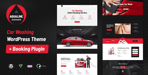 Aqualine - Car Washing Service with Booking System WordPress Theme