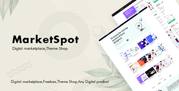 Marketspot - Digital Marketplace Template for Creative Shops