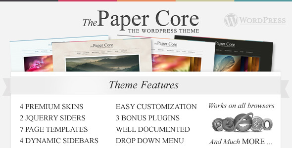 The PaperCore - Elegant Wordpress Theme - Portfolio Creative