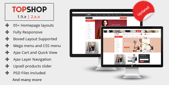 Topshop - Premium Multipurpose Magento 2 and 1.9 Theme