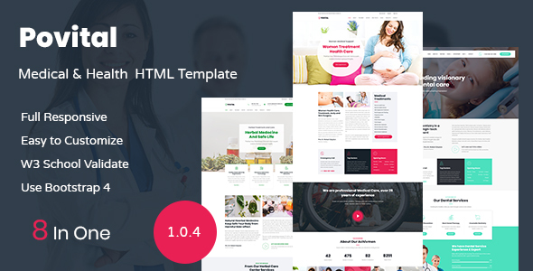 Povital - Medical & Health HTML Template