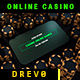 Casino Online Games App/ Poker Champions/ Online Roulette Intro/ Slot Machine/ Money Win/ Smartphone - VideoHive Item for Sale