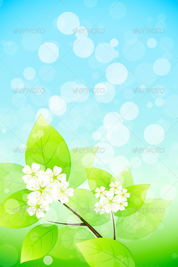 Background with Tree Branch - Flowers & Plants Nature