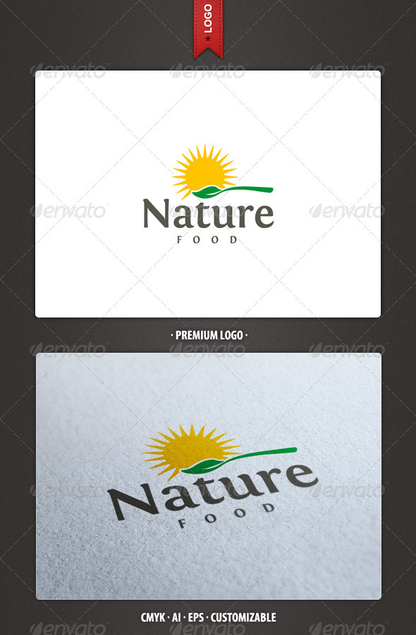 Nature Food Logo Template