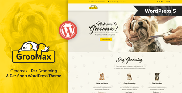 Groomax - Pet Grooming & Shop WordPress Theme