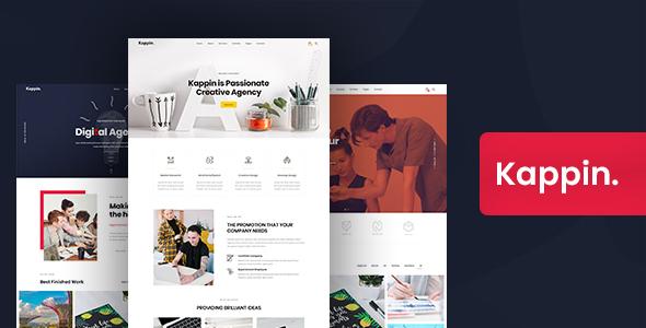 Download Kappin – Modern Agency and Portfolio WordPress Theme Free Nulled