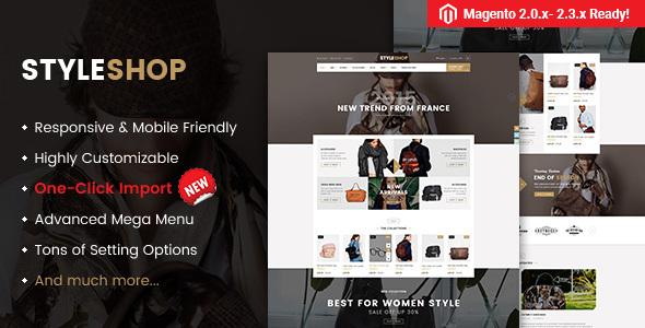 Styleshop - Responsive Multipurpose Magento 2.2.x Theme