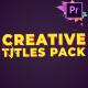 Creative Titles | Premiere Pro MOGRT - VideoHive Item for Sale