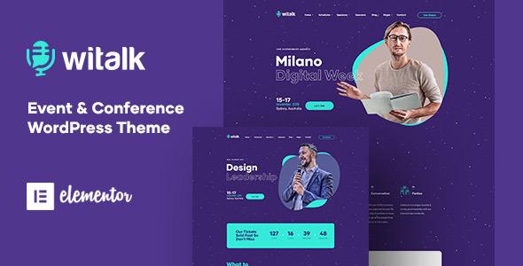 WiTalk - Event & Conference WordPress Theme