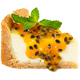 Cheesecake with passion fruit jam and mint - PhotoDune Item for Sale