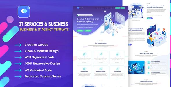 Detotrix - IT Startup Agency & Business Template