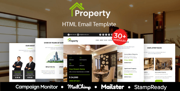 Property Multipurpose Responsive Email Template 20 Modules Mailster Mailchimp By Aumfusion