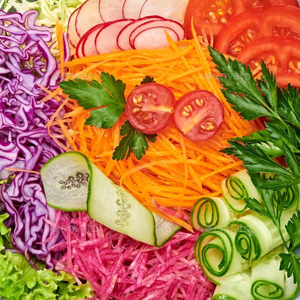 Salad closeup - Stock Photo - Images