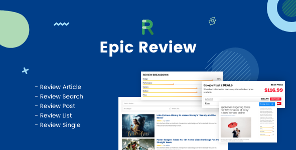 Download Epic Review WordPress Plugin & Add Ons for Elementor & WPBakery Page Builder Free Nulled