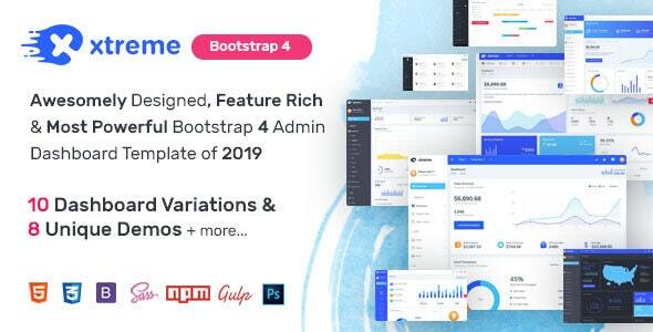 Xtreme Admin - Powerful Bootstrap 4 Dashboard Template