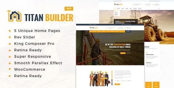 Titan Builders : Construction WordPress Theme