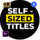 Self-Sized Boxed Titles - for Premiere Pro | Essential Graphics