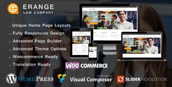 Erange- Law Firm WordPress Theme