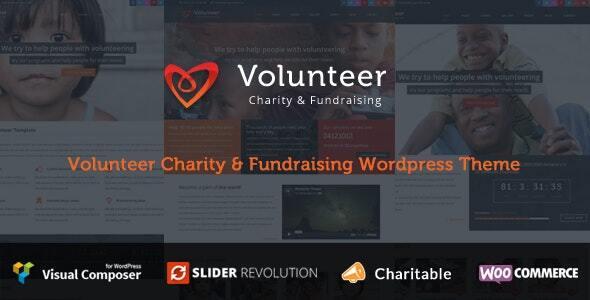 Volunteer - Charity/Fundraising WordPress Theme