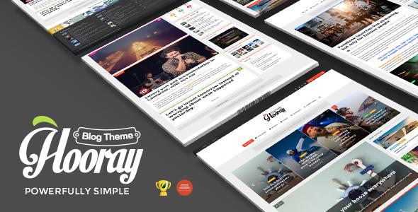 Hooray — Blog WordPress theme for Professional Writers