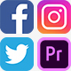 Social Media Icons with Links - VideoHive Item for Sale
