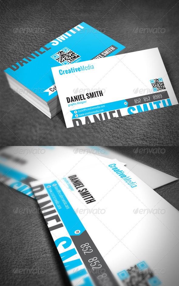 Clean Modern Business Card - Business Cards Print Templates