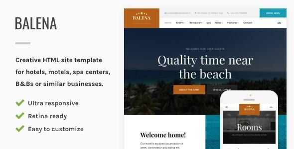 Balena - Hotel HTML Site Template