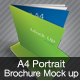 A4 Portrait Brochure Mock Up - GraphicRiver Item for Sale
