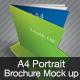 A4 Portrait Brochure Mock Up - GraphicRiver Item for Sale