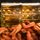 Boiled crayfish with beer on wooden background - PhotoDune Item for Sale