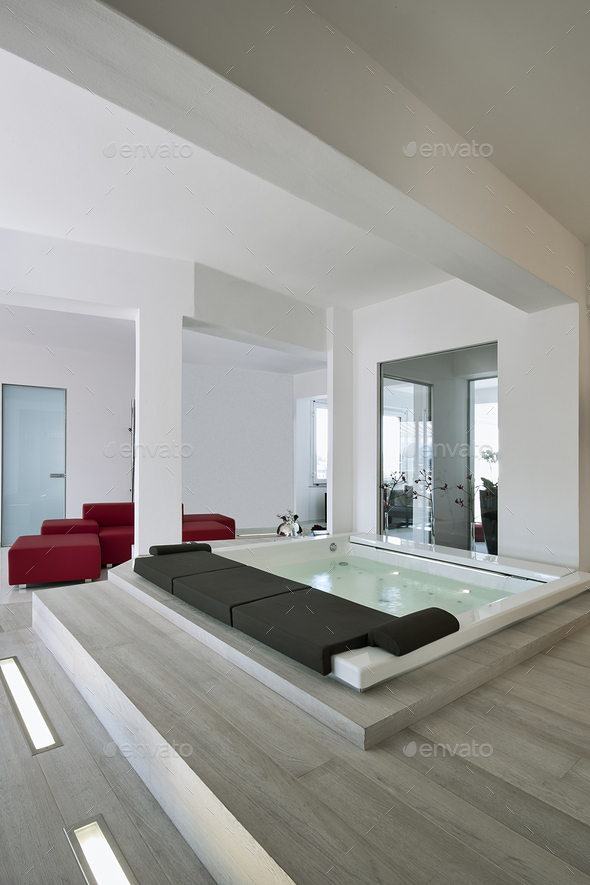 Interiors Shots of the Bathroom in a Modern Apartment - Stock Photo - Images