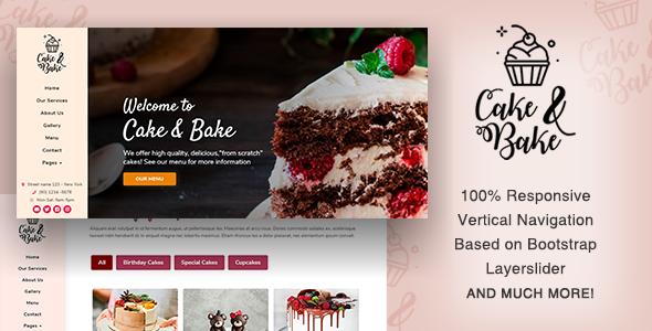 Extraordinary Cake & Bake - Resposive HTML5 Template