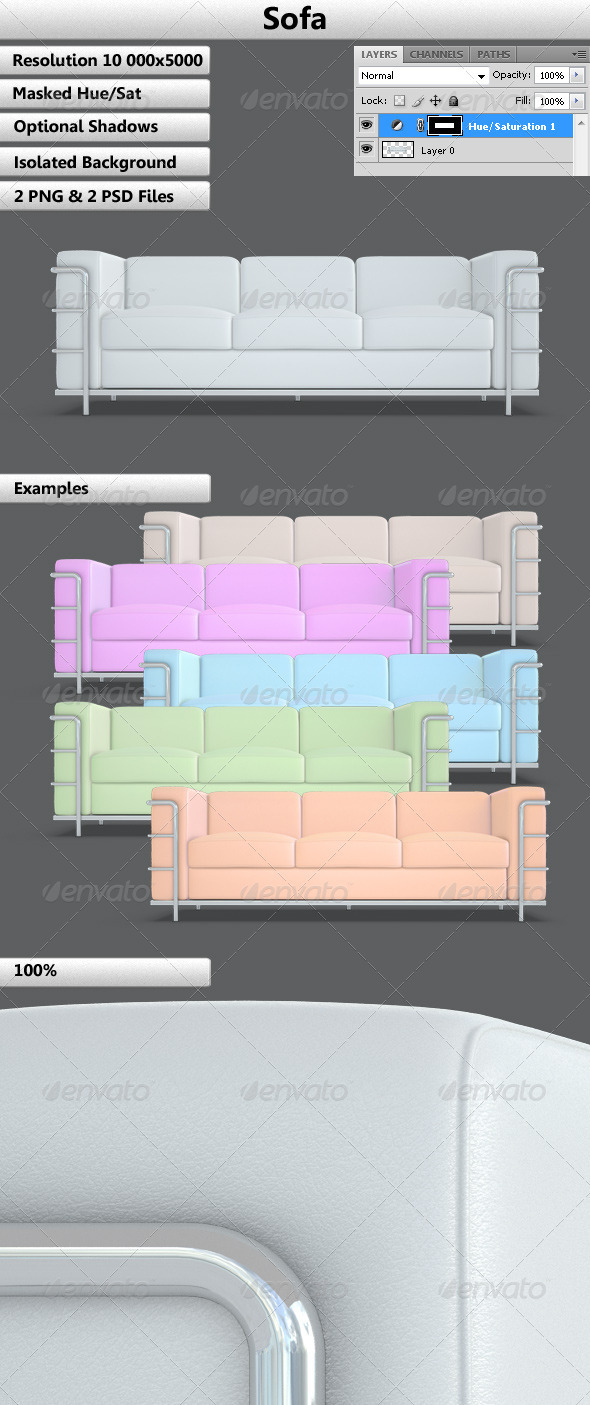 Sofa - Objects 3D Renders