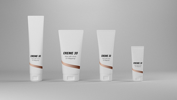 Cosmetic Cream Tubes - 3DOcean Item for Sale