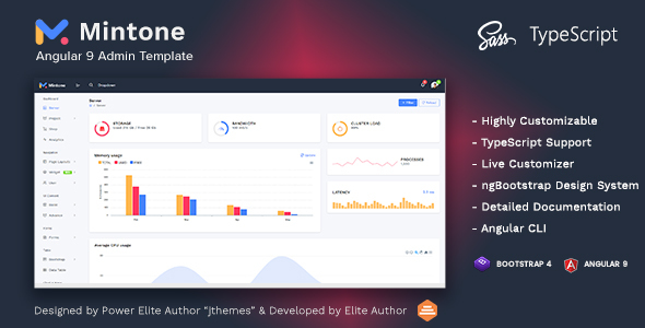 Mintone - Angular 9 Admin Template