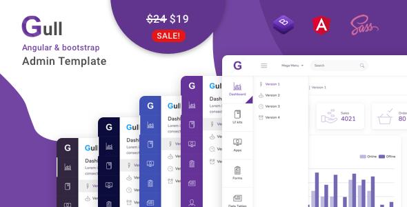 Gull - Angular 9+ Bootstrap 4 Admin Dashboard Template