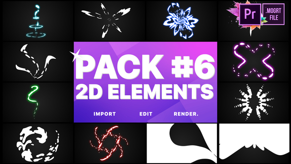 Elements Pack 06 | Premiere Pro MOGRT