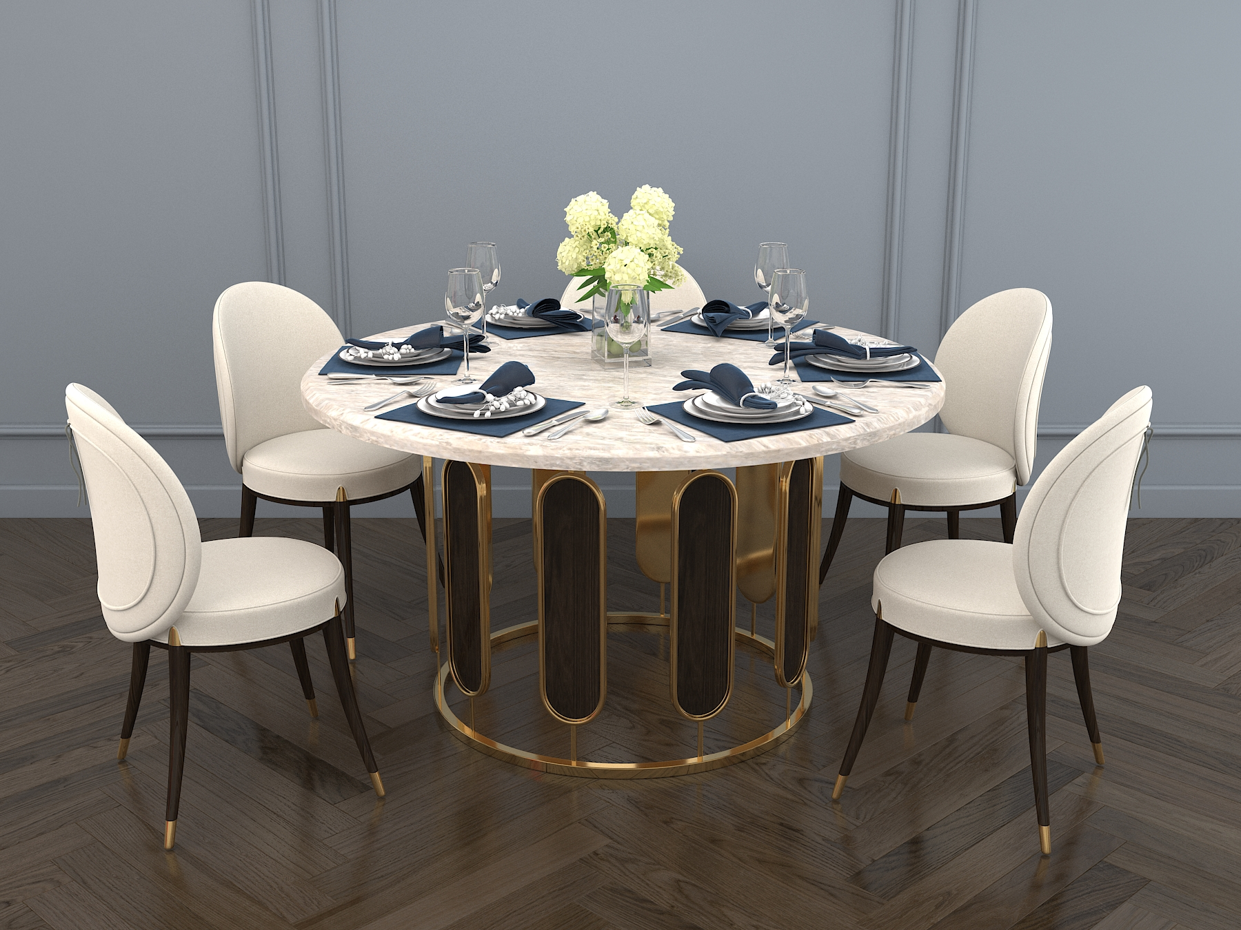 Modern Dining Table And Chair By Nhattuankts 3docean