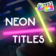 Neon Lights Titles | FCPX - VideoHive Item for Sale