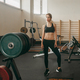 young athletic woman in old gym interior - PhotoDune Item for Sale