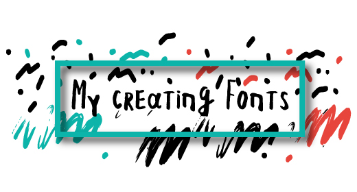 My creating font's