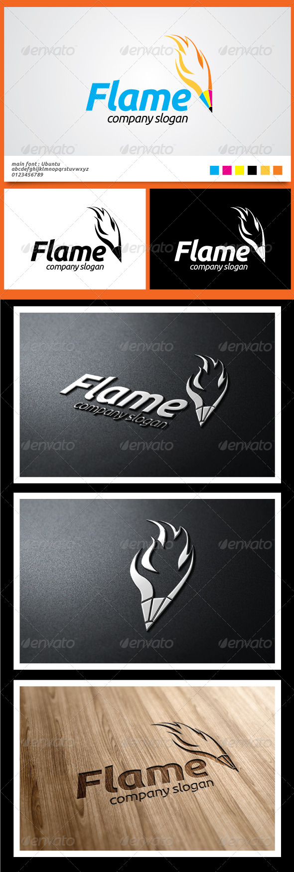 Flame Logo Templates - Symbols Logo Templates