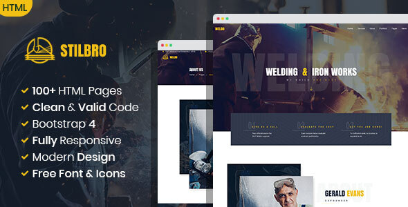 Stilbro - Metal and Steelworks Company HTML template