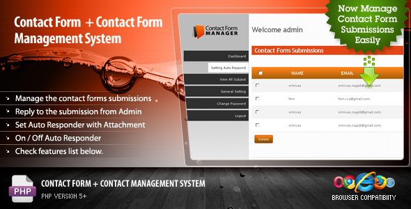 Contact Form + Contact Management System