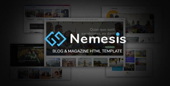 Nemesis   Blog & Magazine HTML5 Template